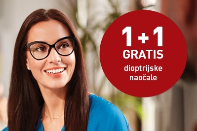1 dioptrijske naočale platite, 1 Vam Monokl poklanja!