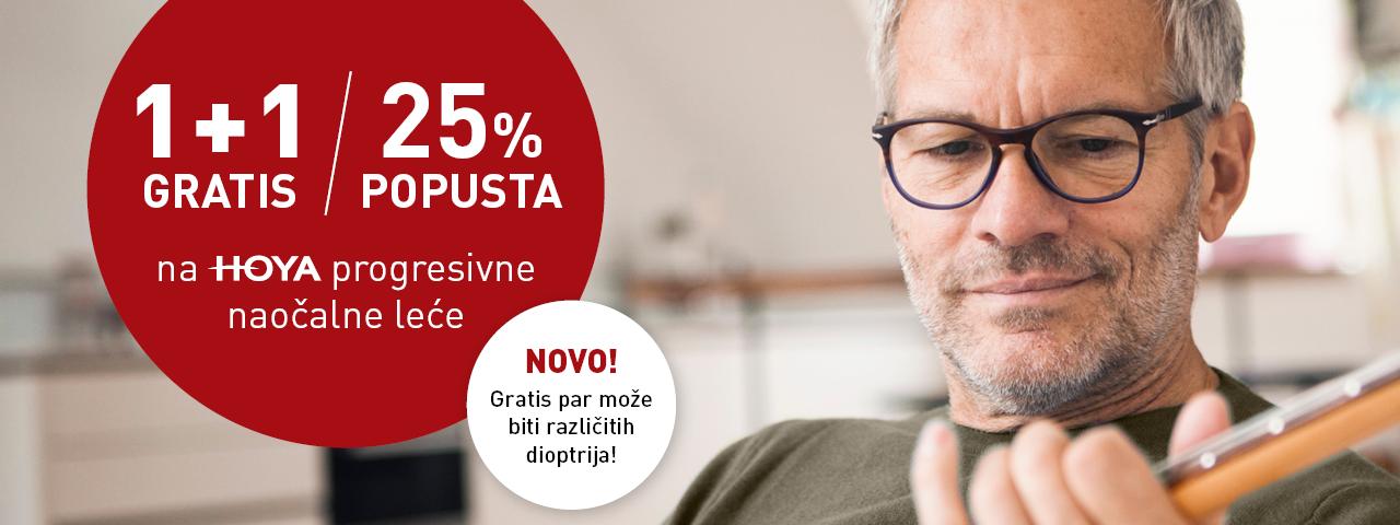 1+1 gratis progresivne naočalne leće različitih dioptrija