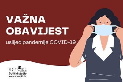 Obavijest klijentima uslijed pandemije virusa Covid-19