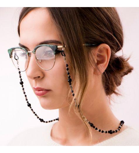 Lančić za naočale - crne perlice