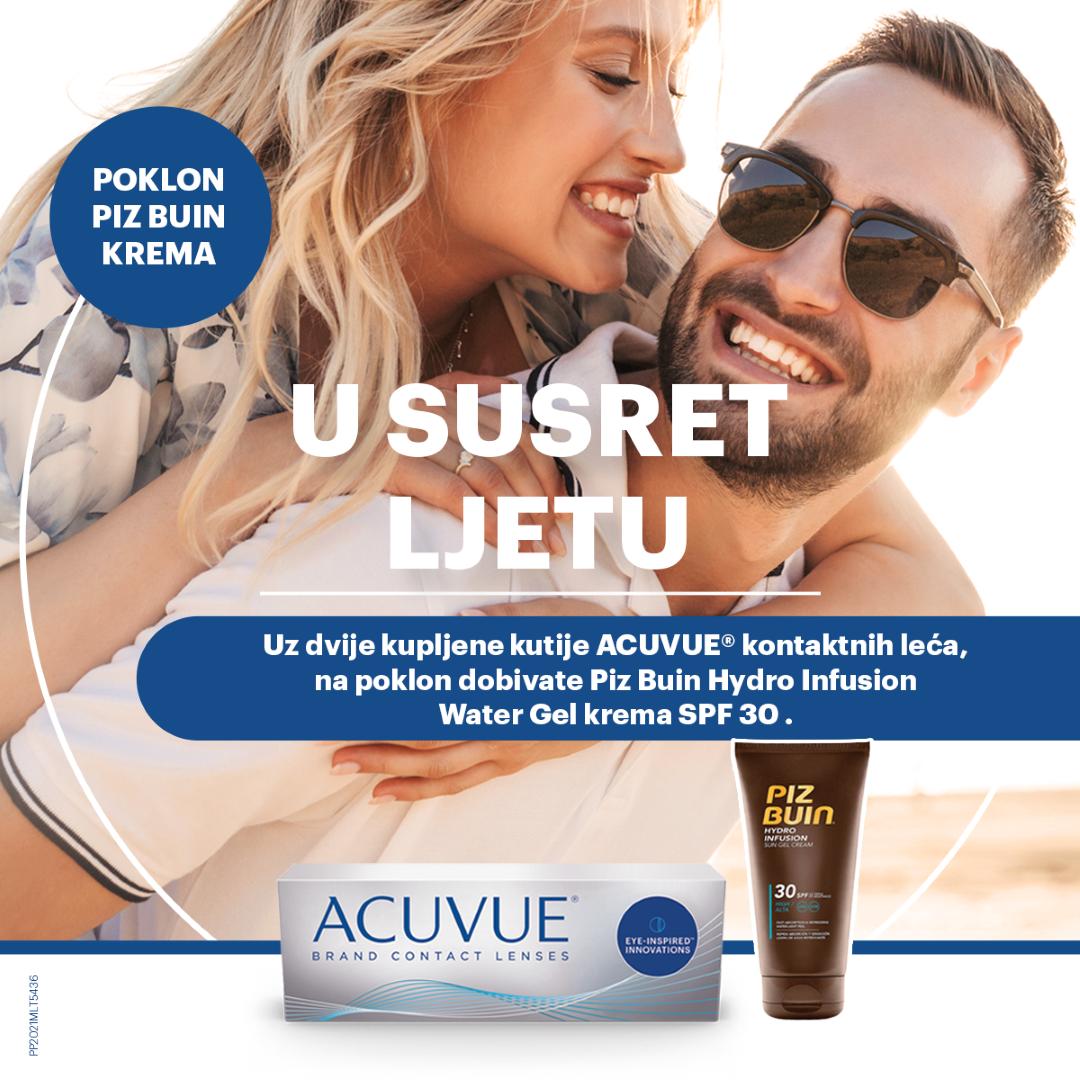 Ljetna Acuvue promocija - uz dvije kutije poklon gel krema za sunčanje